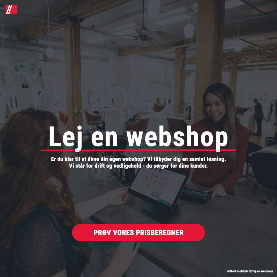 Start din egen webshop