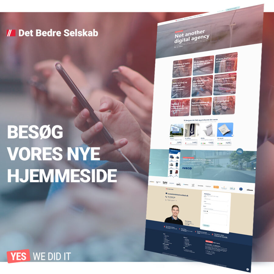 Nyt webdesign